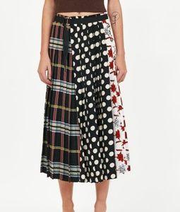 Zara Patchwork Midi Skirt